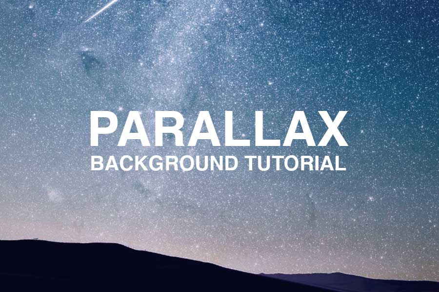 How To Add Scrolling Parallax Background