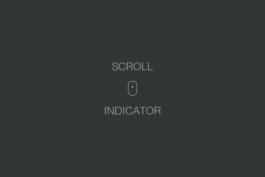 Animated Scroll Indicator CSS